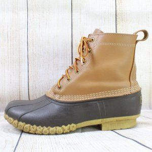 """LL BEAN Classic 8"""" Lace-up Ankle Duck Boots Sz 10"""